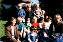 dated 1993 showing children and staff posing for a group photo