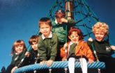 dated 1996 shows six haut-lac students on a playground game