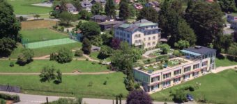 aerial shot of roches grises campus