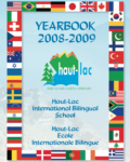 the cover of the year book from the 2008-2009 year